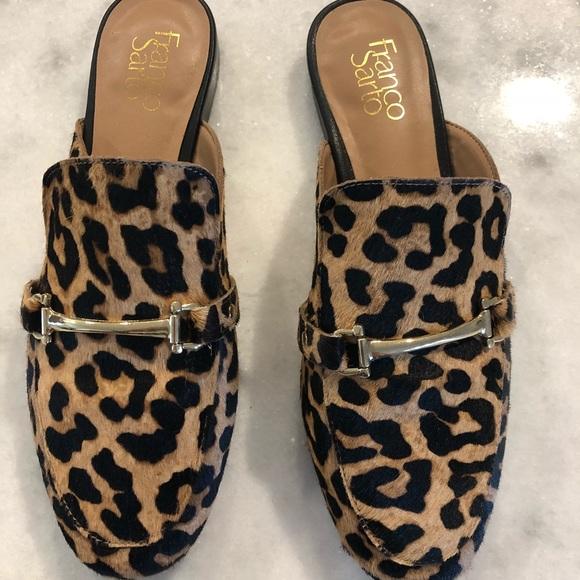 Franko Sarto Leopard Mules
